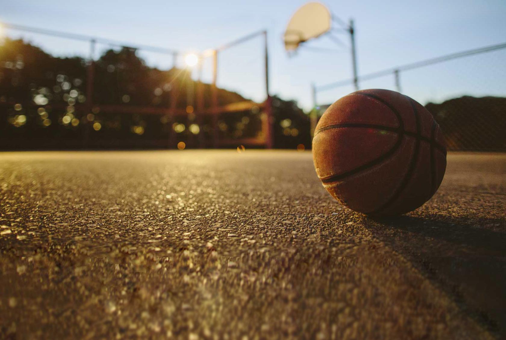 BBQ Sauce Ball on court