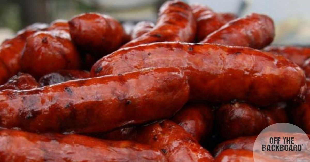 Andouille Sausage with barbecue sauce