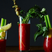 Bloody Mary mix with barbecue sauce