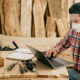 guy in a wood woking shop