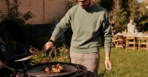 Man on the grill
