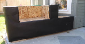 Stone veneer wraping